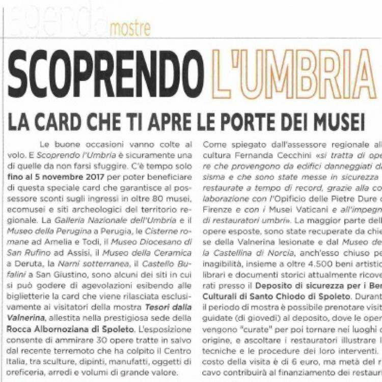 """That'Italia - """"Scoprendo l'Umbria. La card che ti apre le porte dei musei"""""""